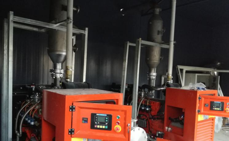 2台50KW沼气发电机组发往仙村奶牛场